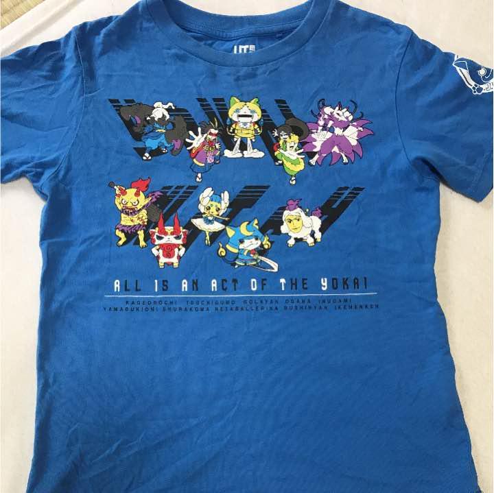 メルカリ 妖怪ウォッチ青tシャツ130 トップスtシャツカットソー